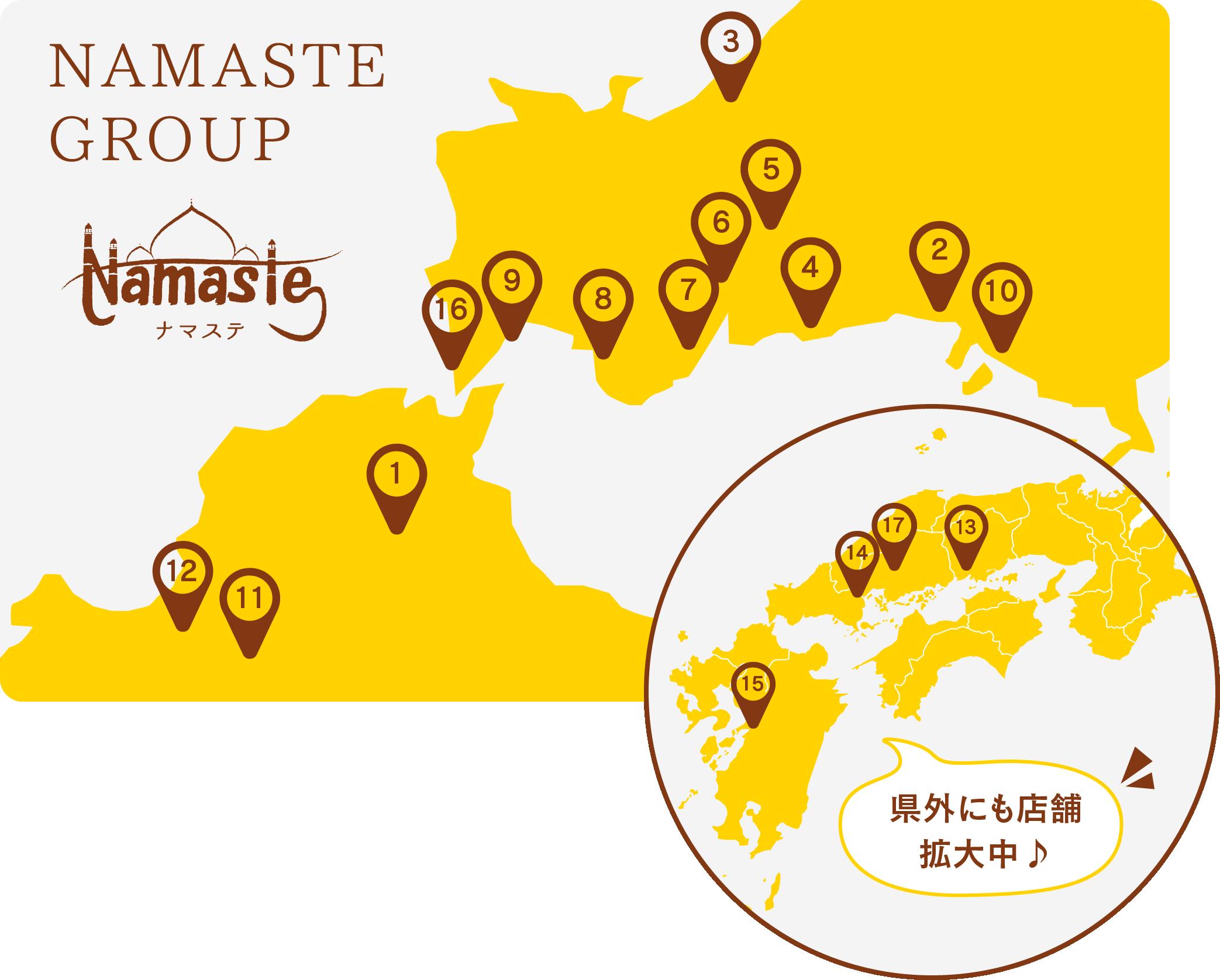 ナマステグループの店舗紹介